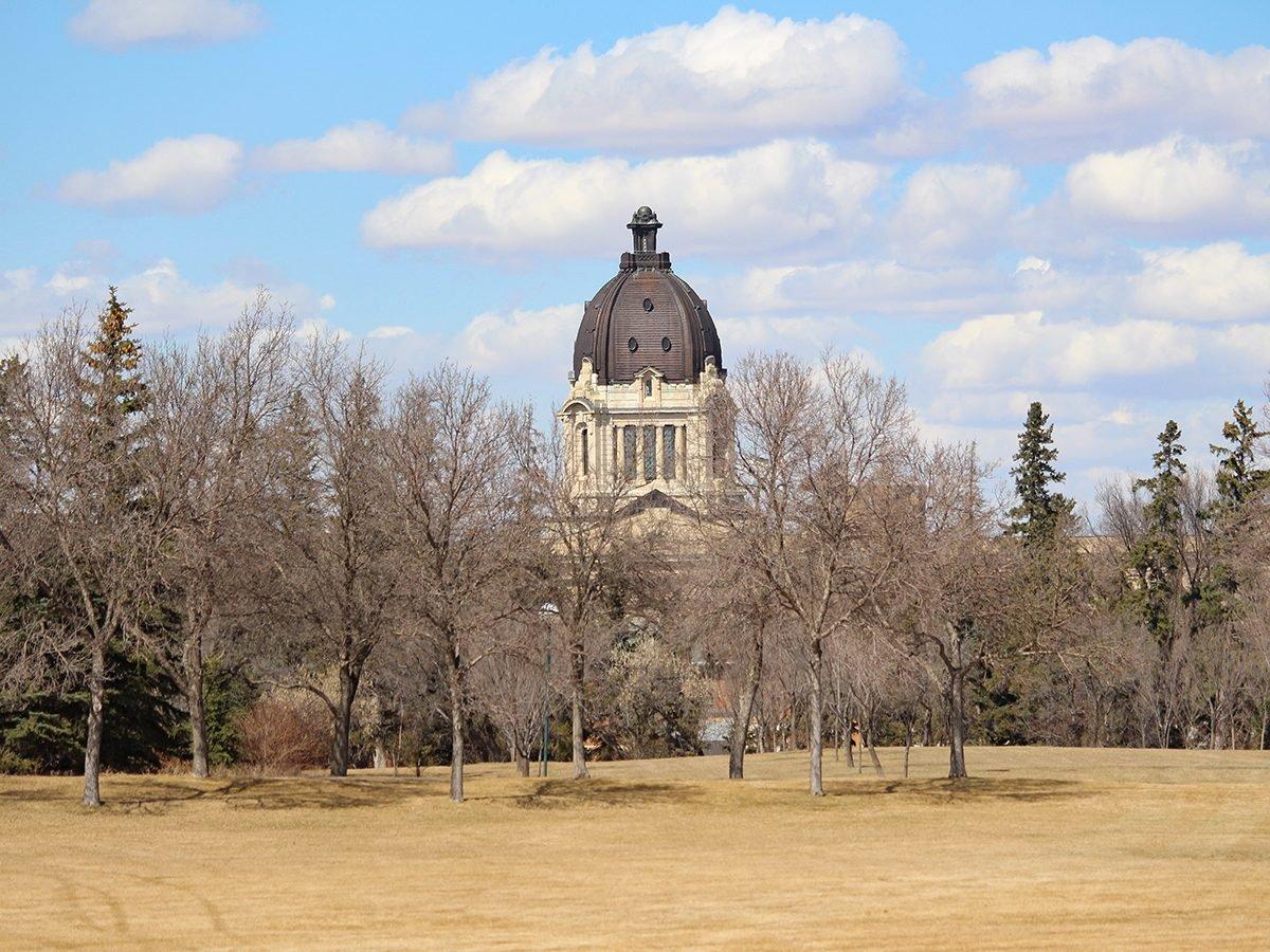 Spring forecast Canada - Regina Legislature in Spring