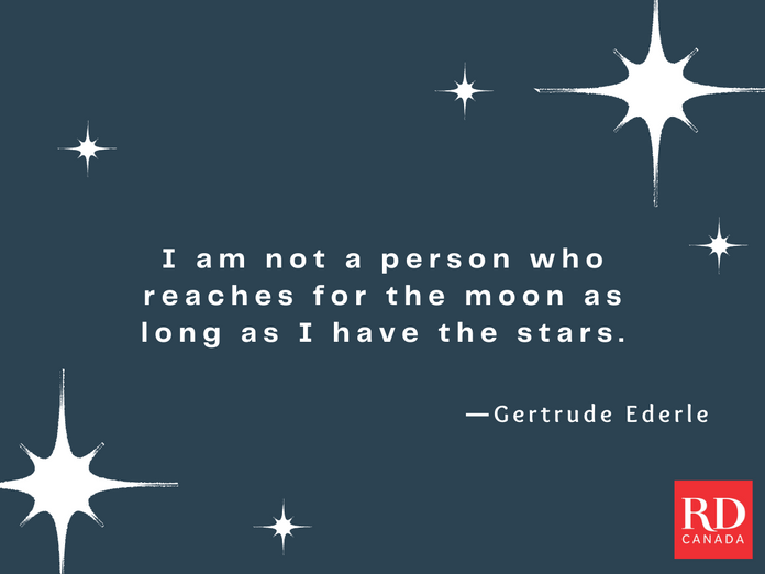 Short Inspirational Quotes - Gertrude Ederle