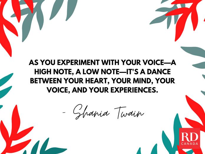 Short Inspirational Quotes - Shania Twain