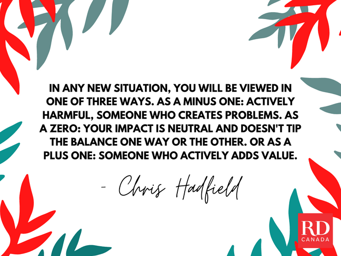 Short Inspirational Quotes - Chris Hadfield