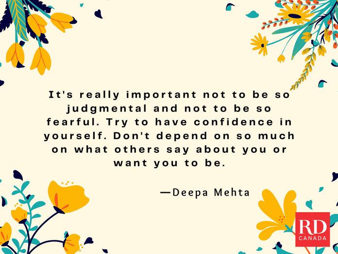 Short Inspirational Quotes - Deepa Mehta