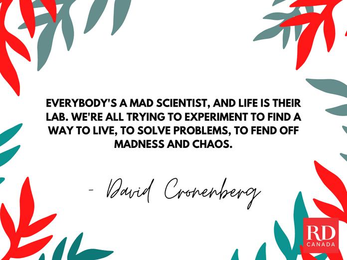Short Inspirational Quotes - David Cronenberg