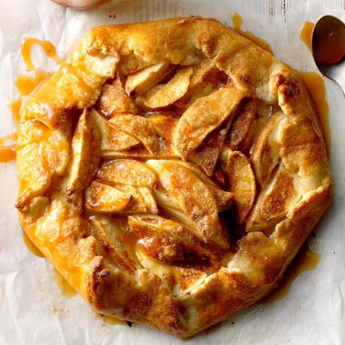 Rustic Caramel Apple Tart - photo