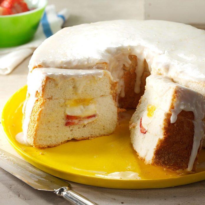 Lemon Curd-Filled Angel Food Cake