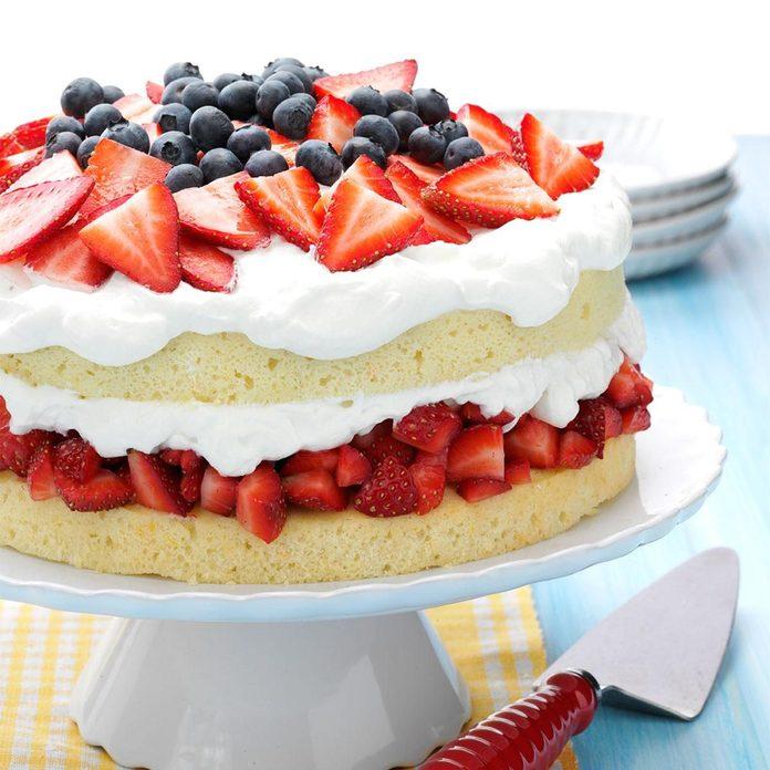 Layered Strawberry Cream Cake