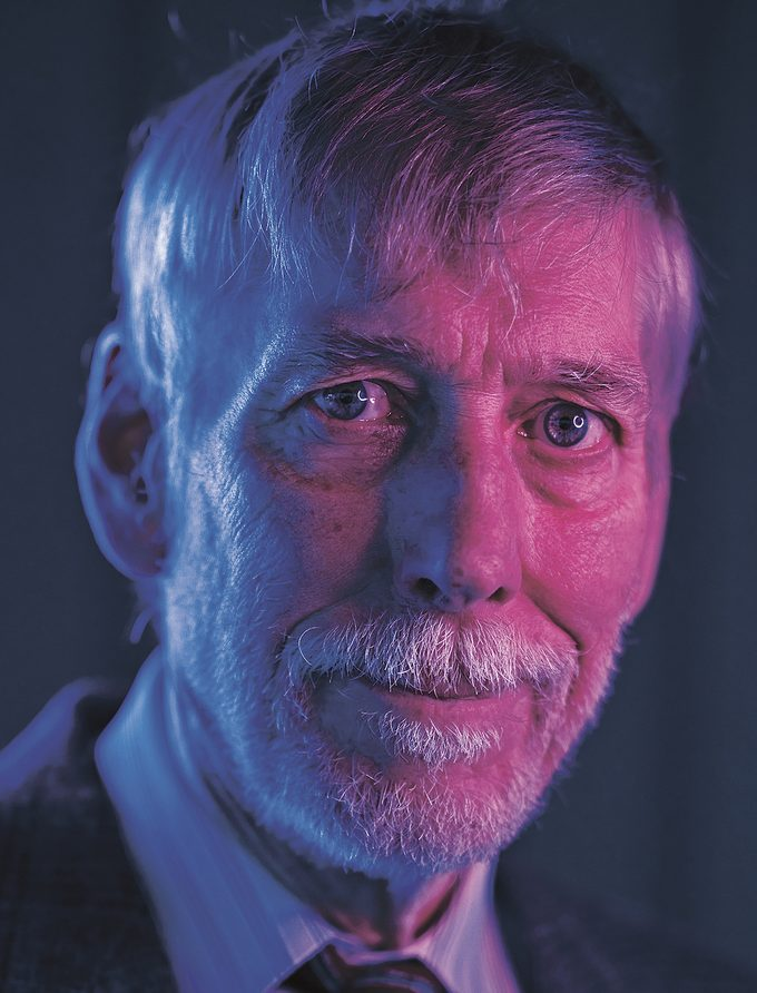 A portrait of Dr. Bruce Tobin, an advocate for magic mushroom therapy.