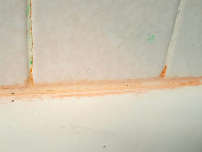 Pink Slime In Bathroom