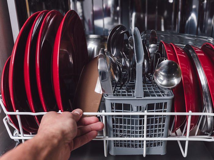 shortening the life of your dishwasher - dishwasher loaded
