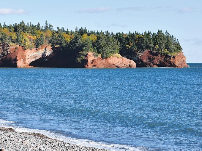 St Martins New Brunswick Sea Caves High Tide