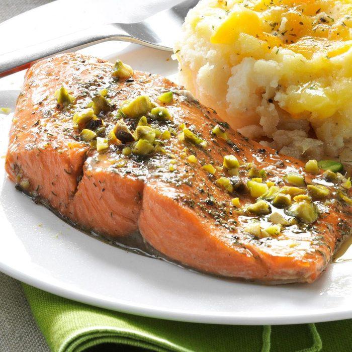 Pistachio Baked Salmon recipe
