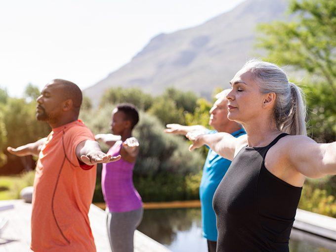 Trelegy Img5 - Older group of people exercising outside