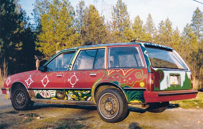 car with one-of-a-kind paint job - front view