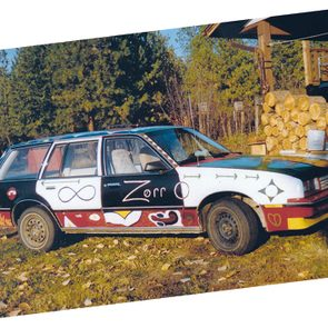 Car with one-of-a-kind paint job