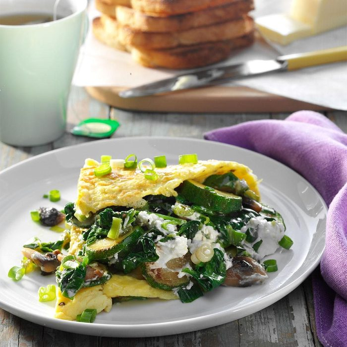 Veggie Omelette with Goat Cheese recipe