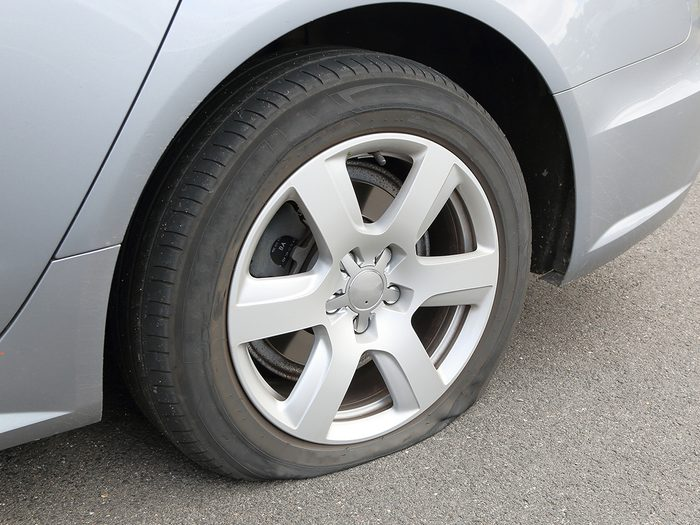 What happens when you don't drive you car - flat tire