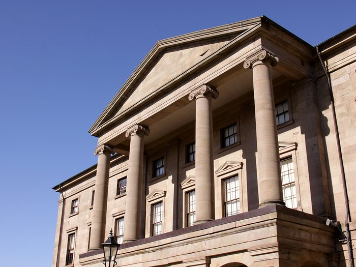 Historical Places in Every Province - The Province House in Charlottetown Prince Edward Island. The Province House is the birthplace of Confederation in Canada.
