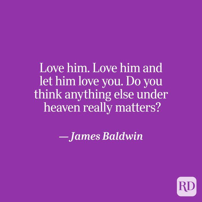 Baldwin quote on purple