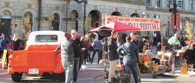 Murdoch Mysteries Filming Locations - on set at Victoria Hall in Cobourg Ontario