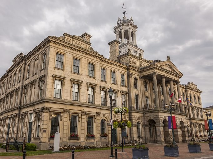 Murdoch Mysteries filming locations - Victoria Hall in Cobourg, Ontario