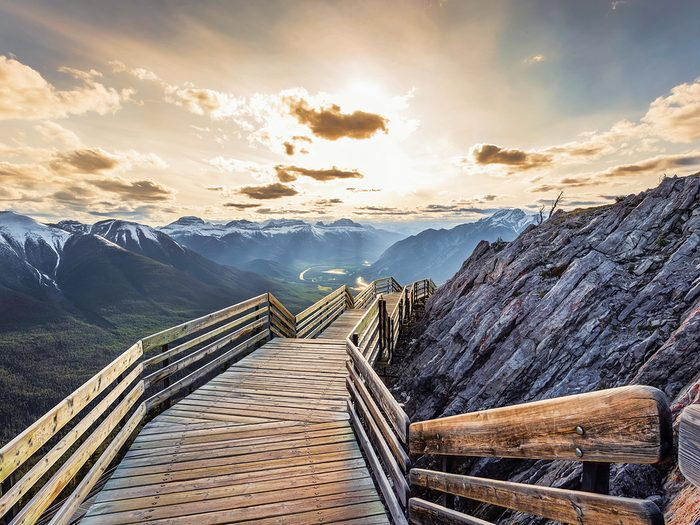 Our Canada Share Your Canada Photo Contest First Place - Sunset at Sulphur Mountain