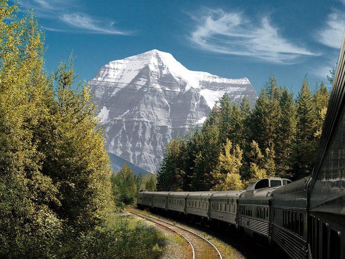Train Across Canada Canadian Mountain