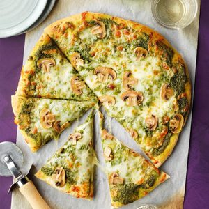 Easy Pesto Pizza