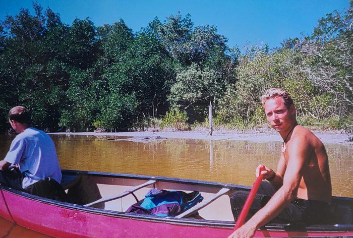 Alaska Adventure - Jason canoeing in the Florida Everglades