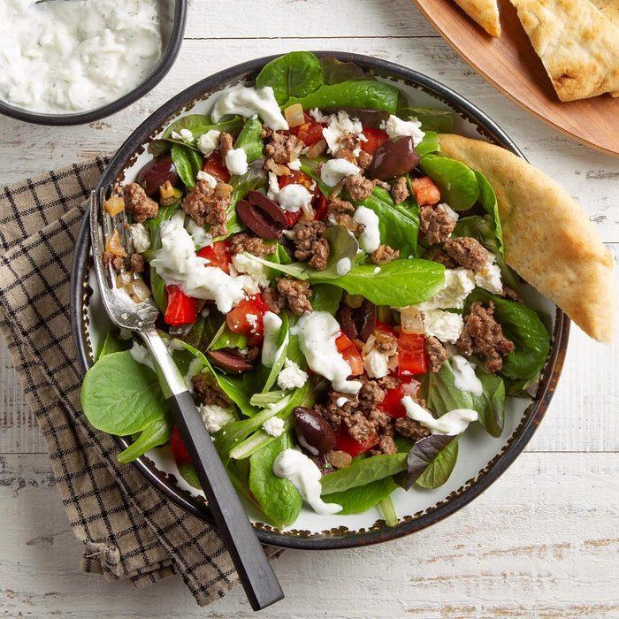 Gyro Salad with Tzatziki Dressing