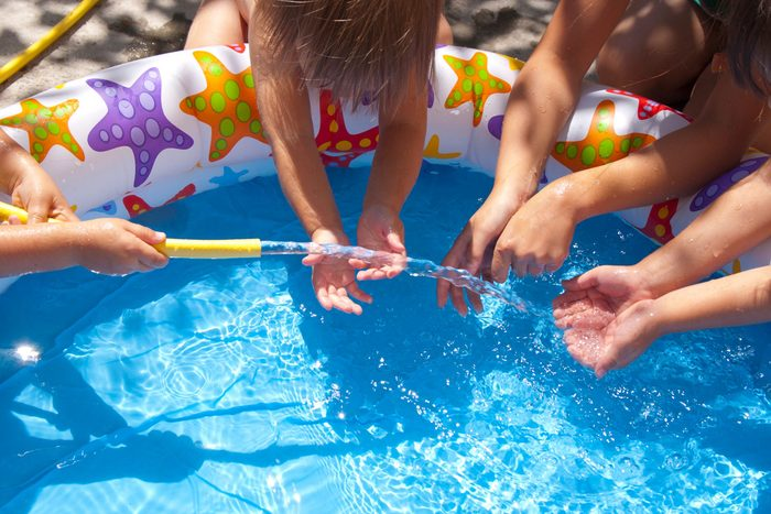 Attracting mosquitoes - Children's pool