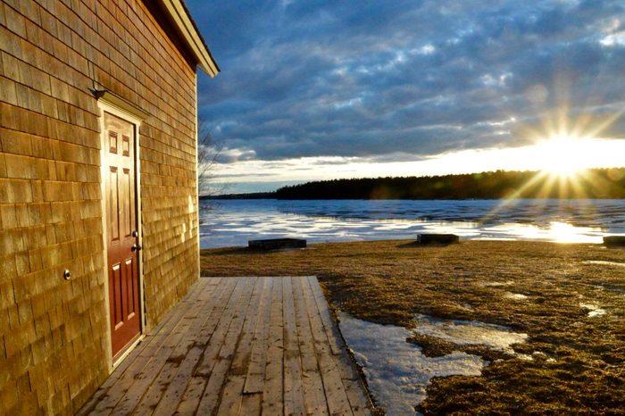Doors Across Canada - Setting Sun on red door