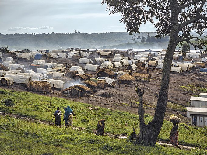 Roger Lemoyne - A view of a camp on the outskirts of Fataki, Ituri Province
