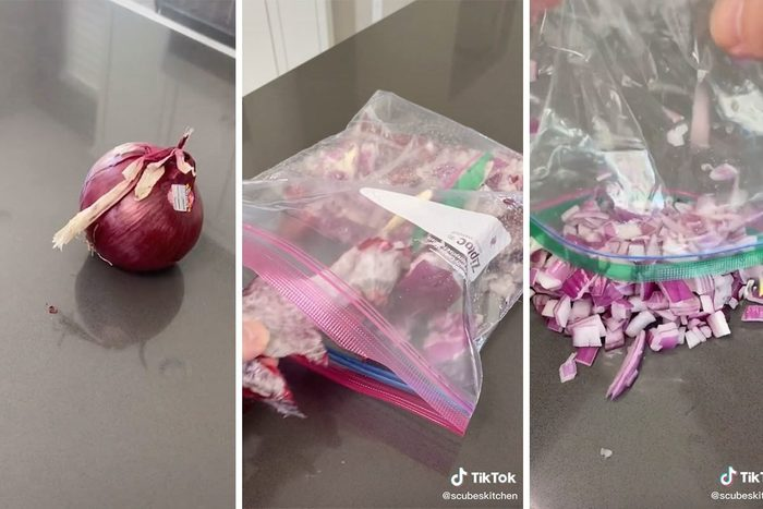 The Best Way to Dice an Onion With a Knife - Tiktok Onion Chopping Hack