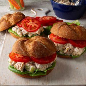 Barbecued Chicken Salad Sandwiches