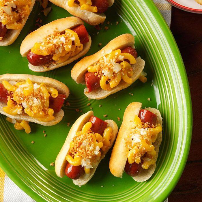 Mini Mac & Cheese Dogs Feature