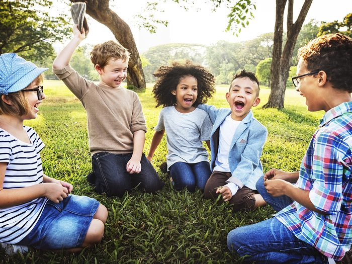 Baby terms - group of young children playing