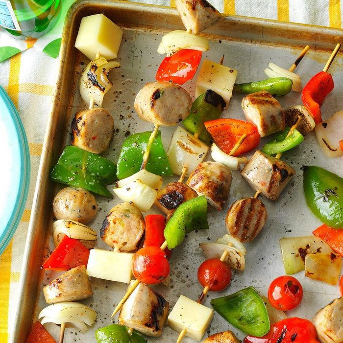 Italian Sausage and Provolone Skewers recipe