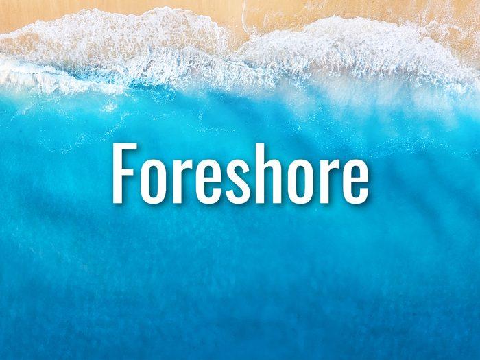 Ocean Words - Foreshore
