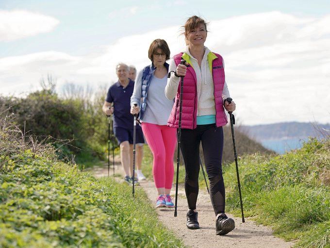 What is Nordic walking - group of Nordic walkers