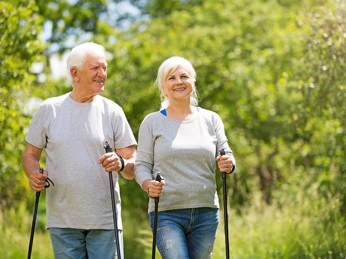 What is Nordic walking - seniors Nordic walking with poles