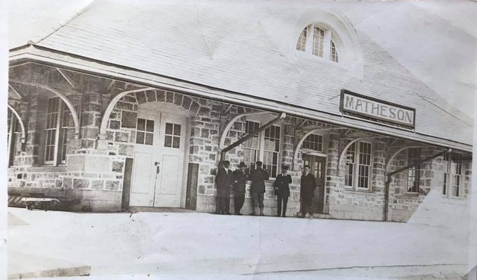 Worst forest fire in Canada - Matheson train station circa 1916, before the fire.