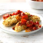 Baked Chicken with Bacon-Tomato Relish