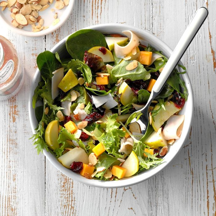 Yellow Squash Turkey Salad
