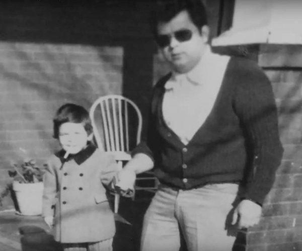 Sergio Navarretta with his father